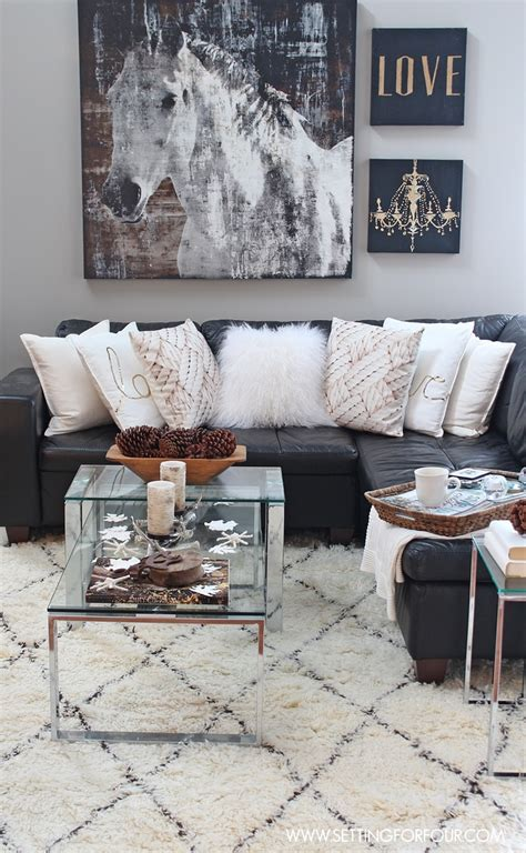rustic living room wall decor rustic glam living room new rug setting for four