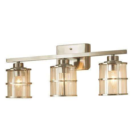 shop allen roth  light kenross brushed nickel bathroom