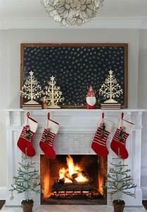 Deco Noel Cheminee : d co chemin e de no l moderne et chaleureuse transformez votre foyer en point focal de l ~ Melissatoandfro.com Idées de Décoration