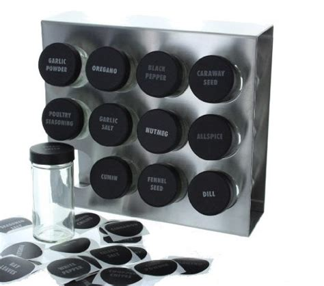 Brushed Stainless Steel Spice Rack by Prodyne M 912 Stainless Steel Spice Rack 12 Bottle New Ebay