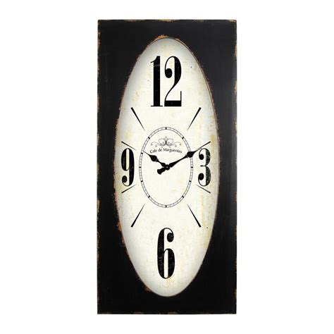 yosemite home decor speakeasy spokes distressed brown rectangle wall clock cl19404937 the home
