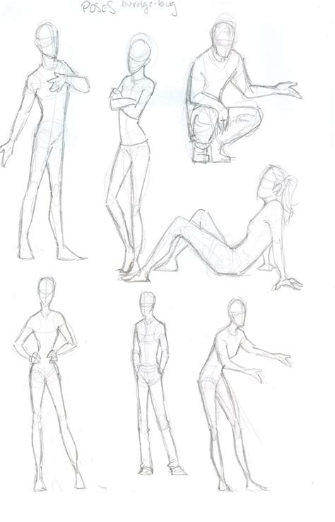 images  illustrated poses  females