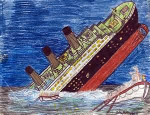 Titanic Sinking Ship Drawing