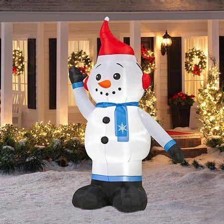 tall airblown christmas snowman inflatable walmartcom