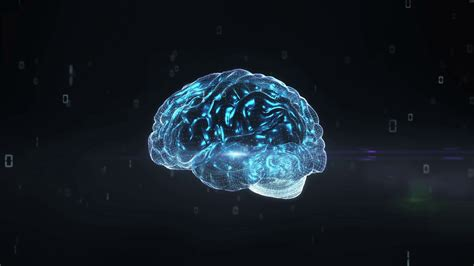 Digital Brain Wallpaper by Rotating Digital Brain Shape Artificial Intelligence