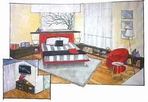 Progettazione camera matrimoniale con mobili Lema e letto Flou Mobili Mariani