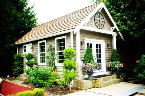 outdoor living craftsman garage and shed seattle
