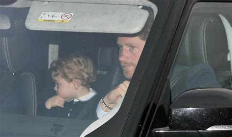 Prince Harry And Prince George Visit Buckingham Palace For