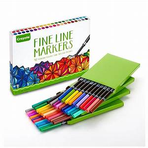 Amazon.com: Crayola Fine Line Markers, 40 Count, Assorted ...