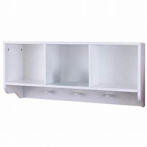 Etagere A Fixer Au Mur : meuble suspendu tag re murale pr salle de bains blanc achat vente etag re murale ~ Teatrodelosmanantiales.com Idées de Décoration