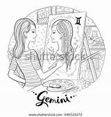 Easel Young Self Coloring Shutterstock Adult Portrait Chalkboard Apple Drawing sketch template