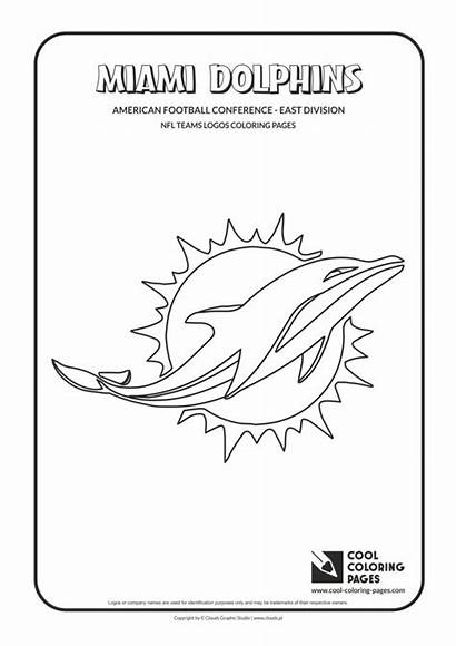 Coloring Nfl Pages Dolphins Logos Miami Cool