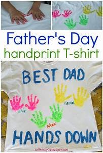 DIY Father's Day Handprint Shirt | Coffee Cups and Crayons