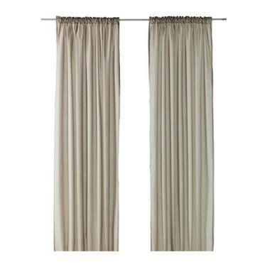 Ikea Vivan Curtains Uk by Ikea Vivan Curtains Drapes Beige 2 Panels Taupe