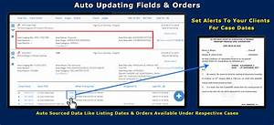 For Specific Courts  Auto Obtaining Of Listing Dates And