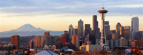 city landscape seattle mount rainier wallpapers hd