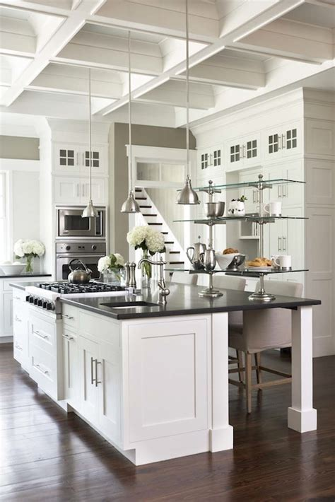 Sunny Wood Dover White Cabinets by Kitchen Coffered Ceiling Design Ideas