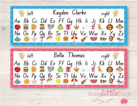 alphabet editable  desk mats preschool