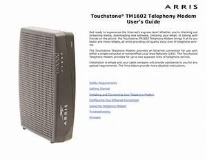Arris Modem Tm1602 Us Ds Light Flashing