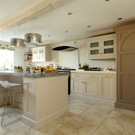 shaker kitchen with modern pendants kitchen