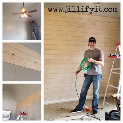 How To Make Shiplap by Remodelaholic How To Install A Shiplap Wall Rustic