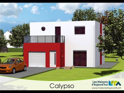 plan de maison contemporaine cubique calypso les