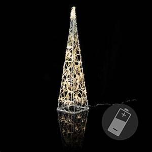 Led Pyramide Aussen : lichterkegel acryl pyramide aussen 60 led warmwei 90 cm lichtpyramide eckig elknim ~ Eleganceandgraceweddings.com Haus und Dekorationen