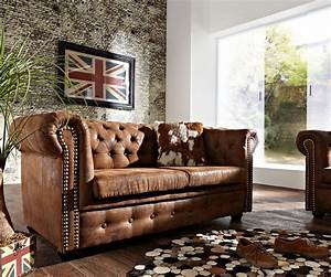 Chesterfield Sofa 4 Sitzer : 2 sitzer couch chesterfield braun 160x92 cm antik optik sofa ~ Bigdaddyawards.com Haus und Dekorationen