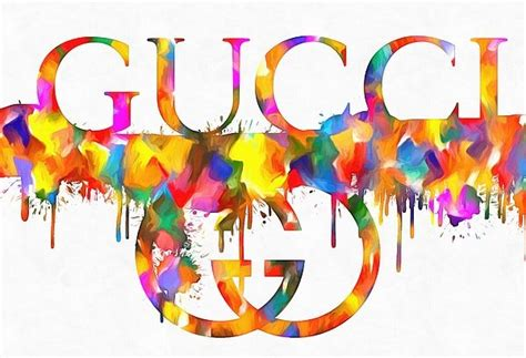 colorful gucci paint splatter greeting card  sale