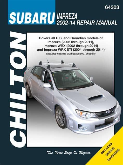 subaru impreza chilton repair manual   hay
