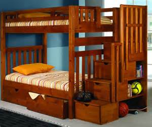 donco trading furniture honey twin staircase bunk bed 200