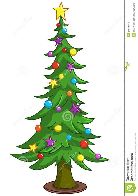 cartoon christmas tree stock vector illustration
