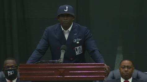 Jackson State introduces Deion Sanders as next head ...