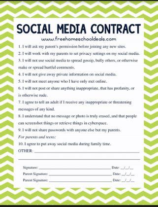 teen social media contract instant