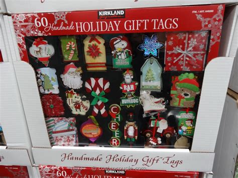 kirkland signature holiday gift tags set