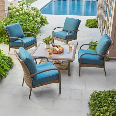 hton bay corranade 5 wicker patio conversation