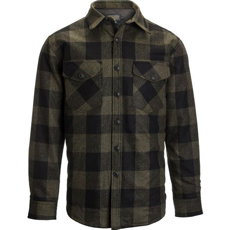 quilted shirt mens pendleton quilted cpo in wool shirt jacket s