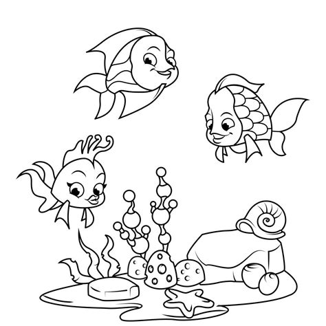 fish coloring pages  android iphoneipad app