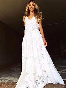 ciara wore another custom roberto cavalli gown to her With ciara wedding dress