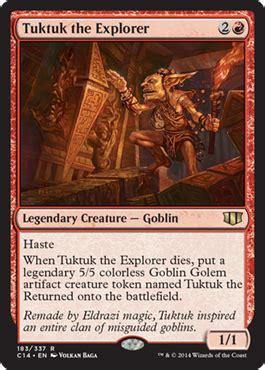 goblin commander deck 2014 tuktuk the explorer from commander 2014 spoiler