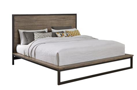 industrial modern pine metal  piece king bedroom set