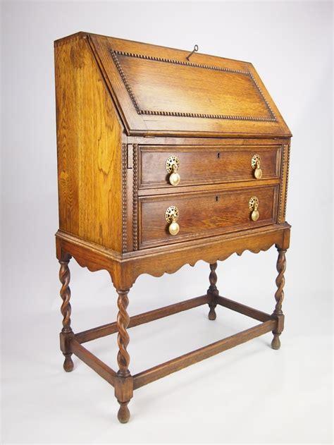 bureau desk uk small vintage oak bureau writing desk 256584