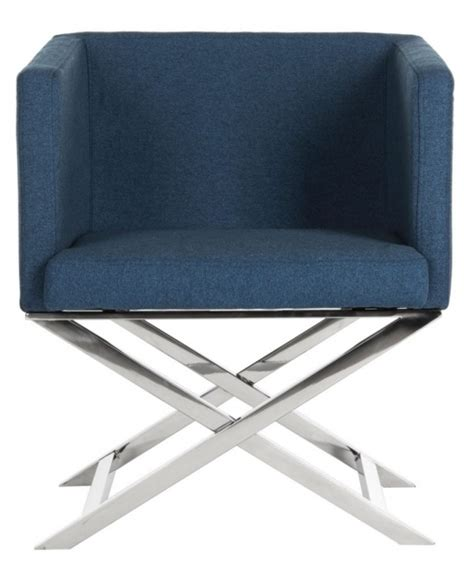 navy blue accent chair homepop swoop arm accent