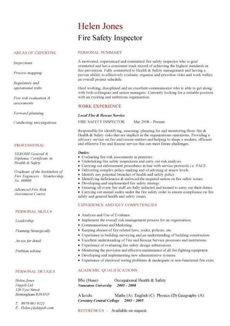 ehs resume sle 28 images environmental health safety