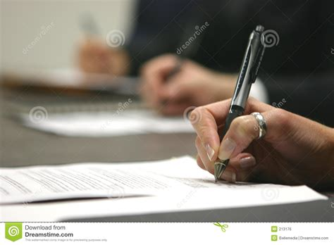 Writing Business by Business Writing Stock Photo Image Of Workers