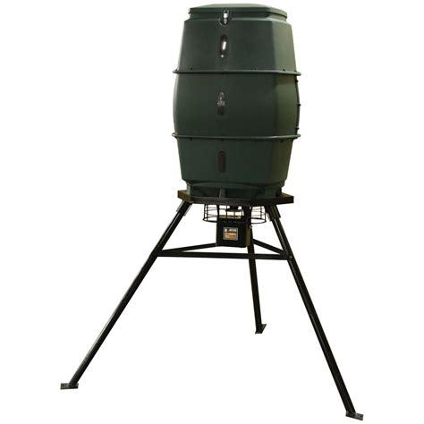 hunten outdoors 174 70 gallon short man game feeder 214628