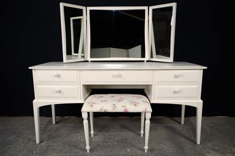 stag dressing table  stool english roses painted