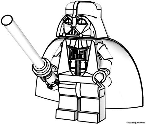 Lego Star Wars Luke Skywalker Coloring Page Free Printable