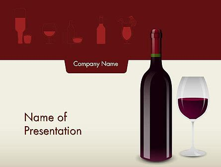 wine themed  template  powerpoint