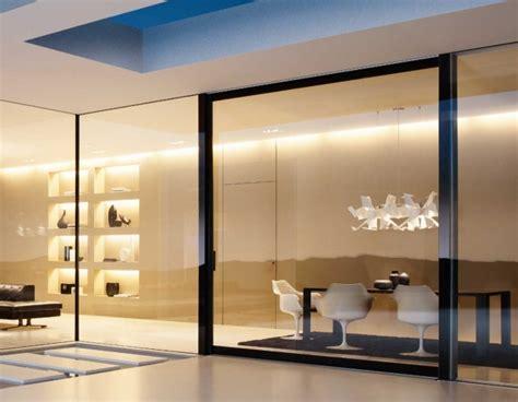 separation en verre cuisine salon cloison coulissante en verre ou bois pour la maison moderne